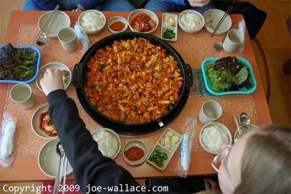 South-Korean-food-dak-galbi