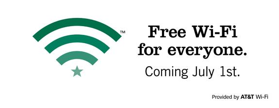 Starbucks free wi fi